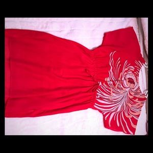 Red Dress w/ flower detail